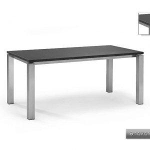 Nvt Eettafel-Tuintafel 180 x 90 x 75 cm Stavanger - RVS-Natuursteen - Studio 20