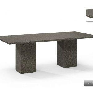 Nvt Eettafel-Tuintafel 240 x 100 cm Viking - 3 cm - Natuursteen - Studio 20