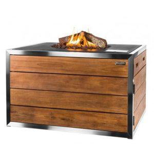 Happy Cocooning Stainless Steel/Teak Lounge Dining Terrashaard Rechthoek antraciet
