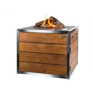 Happy Cocooning Stainless Steel/Teak Lounge Dining Terrashaard Vierkant Antraciet