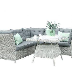 Fonteyn Collectie Lounge-Diningset Morris White Grey Fonteyn