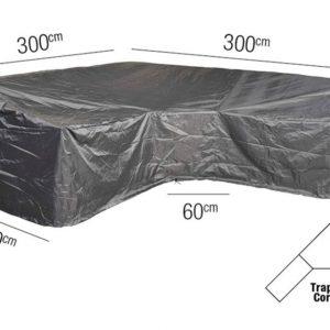 Platinum Loungesethoes L Trapeze 300 x 300 x 90 x 65(H)-90(HB) cm AeroCover