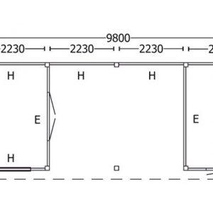 Nvt Tuinhuis / Blokhut Trendhout Buitenverblijf Mensa L 9800mm F