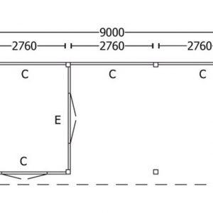 Nvt Tuinhuis / Blokhut Trendhout Buitenverblijf Refter XL 9000mm D