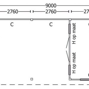 Nvt Tuinhuis / Blokhut Trendhout Buitenverblijf Regina XL 9000mm D