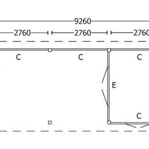 Nvt Tuinhuis / Blokhut Trendhout Buitenverblijf Zadeldak XL 9260mm F