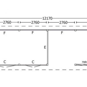 Nvt Tuinhuis / Blokhut Trendhout Kapschuur De Hoeve XL 12170mm D