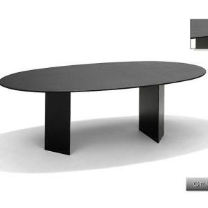 Nvt Eettafel-Tuintafel 220 x 110 x 75 cm Genua - Natuursteen - Pearl Grey Satinado - Studio 20