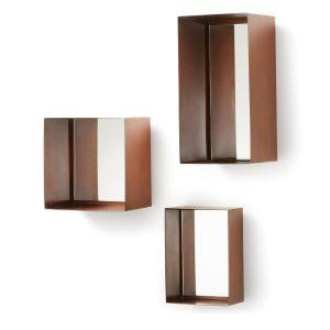 LaForma Clifton - Metalen spiegelset - Koper - spiegels (set van 3)