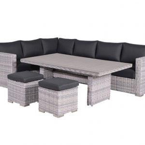 Tennessee lounge dining set links 5-delig - grijs