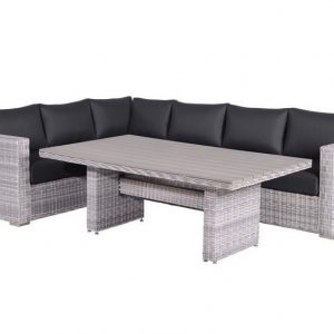Tennessee lounge dining set links 3-delig  - grijs