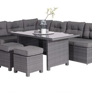 Coral dining loungeset 5-delig antraciet