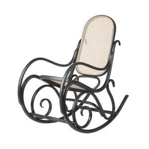 Fameg Felicia - Houten schommelstoel - Thonet - Thonet Schommelstoel no. 1, rotan zitting