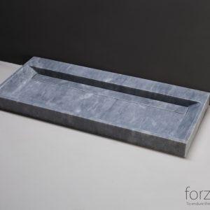 Forzalaqua Bellezza wastafel cloudy marmer gezoet 100x51,5x9cm zonder kraangat