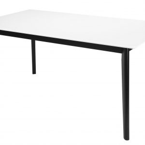 Interstil Eettafel 'Century' wit/zwart, 160 x 90cm