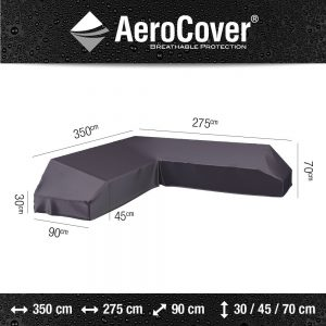Platform loungesethoes 350X275x90xH30/45/70 cm Rechts - Aerocover
