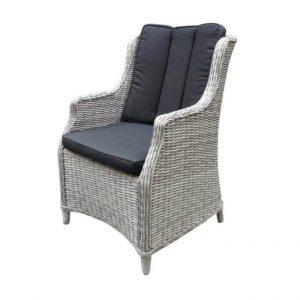 Darwin natural white grey + royal dark grey dining stoel