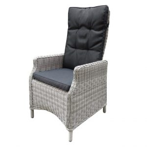 Empoli verstelbare dining stoel natural white grey + royal dark grey