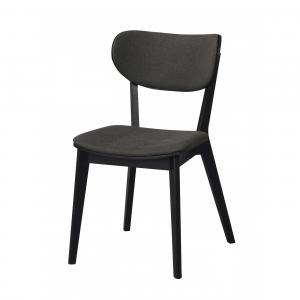 Nordiq Cato Chair - Houten stoel - Zwart eiken - Grijs