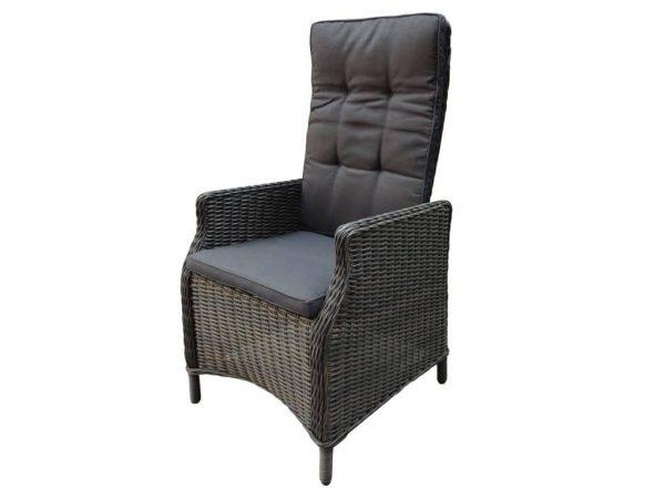 Empoli verstelbare dining stoel rock grey + royal dark grey