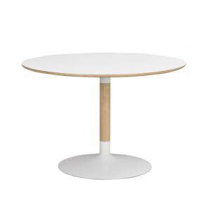 Nordiq Fusion table - Ronde eettafel - 115 cm - Eiken onderstel - Scandinavisch design