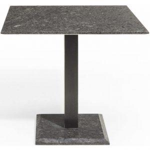 Edam dining tuintafel 90x90xH75 cm graniet pearl black satinado