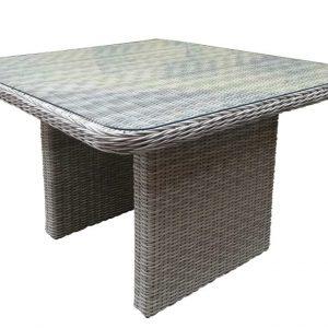 Bilbao tafel 110x110x70 natural white grey +glasplaat