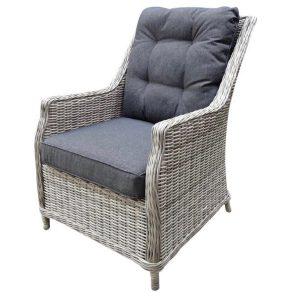 Dunham lounge tuinstoel wit-grijs