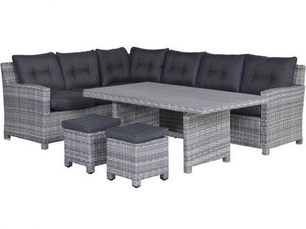 Seagull hoek dining loungeset 5-delig grijs links