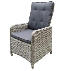 Empoli verstelbare lounge stoel white grey + dark grey