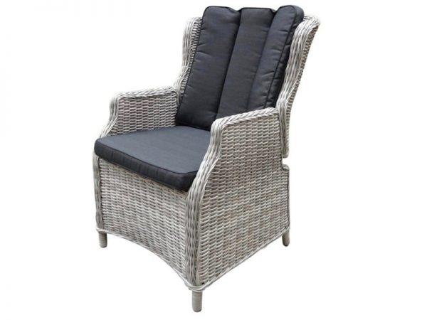 Darwin verstelbare dining stoel natural white grey + royal dark grey
