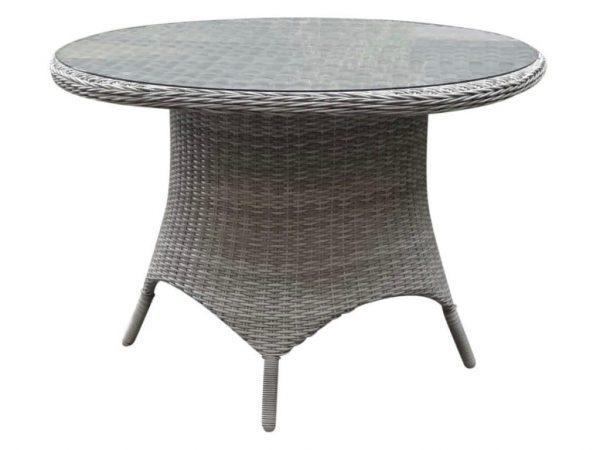 Riccione dining tuintafel 110 cm wit grijs