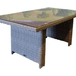 San Marino lounge-diningtafel 146x84,5x66,5 kobo grijs