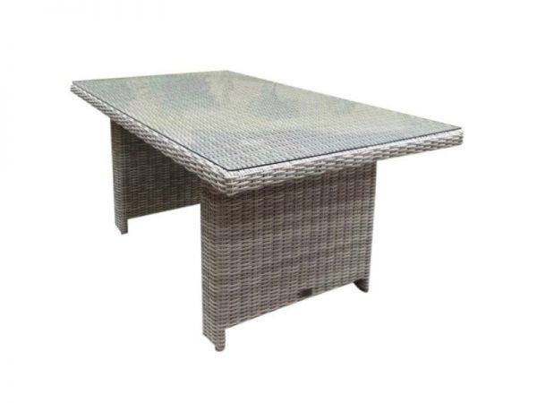 San Marino lounge-diningtafel 146x84,5x66,5 wit grijs