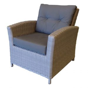 San Diego lounge stoel natural kobo grey + royal dark grey