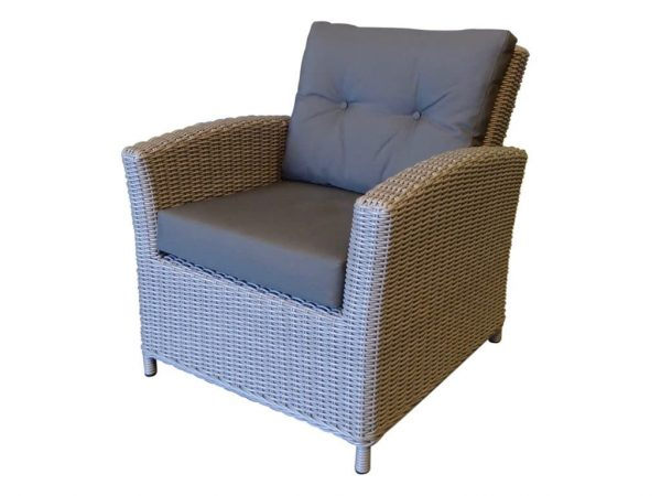 San Diego lounge stoel natural kobo grey + royal dark grey