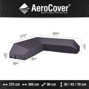 Platform loungesethoes 375x300x90xH30/45/70 cm Rechts - Aerocover