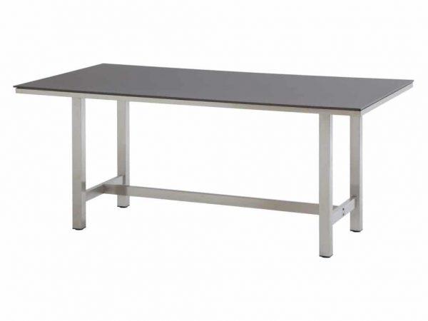 Rivoli tafel 170x95 RVS + Slimtop mid grey 4 Seasons Outdoor