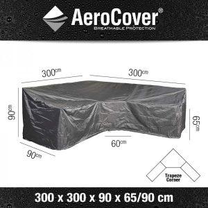 Loungesethoes 300x300x90xH65-90 - Aerocover