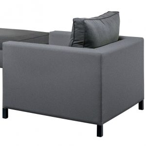 SUNS Menor lounge stoel black grey + antraciet
