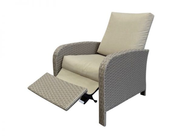 Diva verstelbare lounge stoel sanded brown + sand