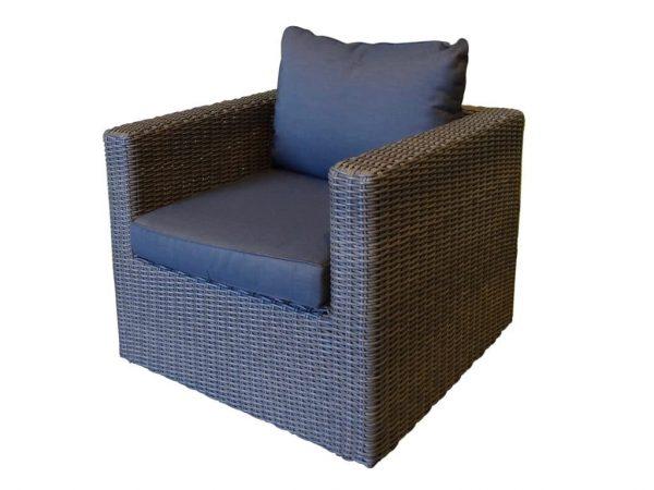 El Gouna lounge stoel rock grey + royal dark grey