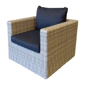 El Gouna lounge stoel natural white grey + royal dark grey