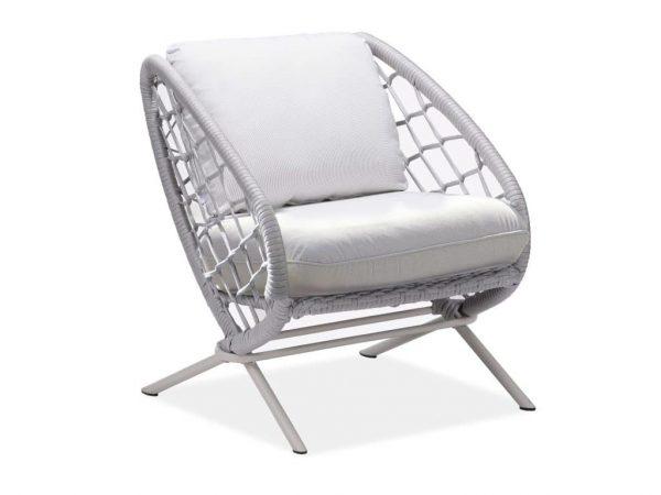 Match lounge stoel grey + light grey