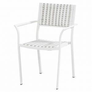 Piazza stapelbare dining stoel white latte 4 Seasons Outdoor