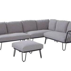 Premium hoek loungeset rechts 4-delig antraciet aluminium