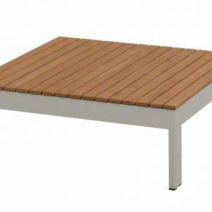 Mistral lounge tuintafel 90x90xH32 cm seashell - teakhout