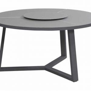 Organic dining tafel 150 cm. met Lazy Susan Taste 4SO