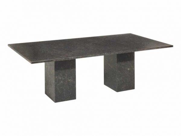 Viking dining tuintafel 300x100xH75 cm 3cm graniet pearl black satinado