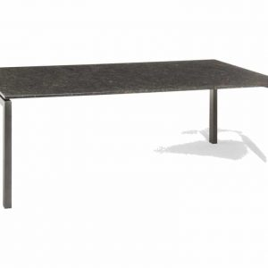 Bergamo dining tuintafel 160x90xH75 cm 2cm graniet pearl grey gezoet